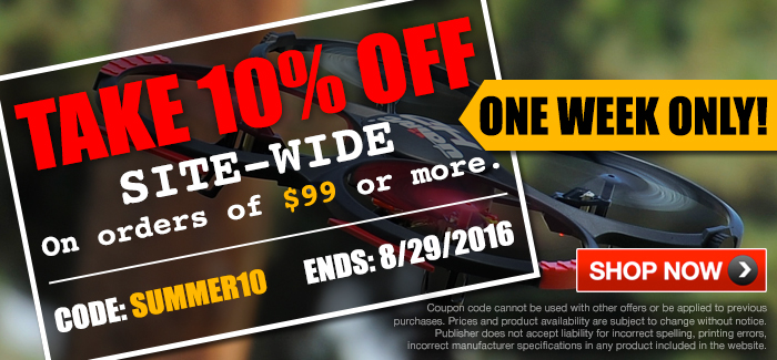1 Week Only! Special Site-wide 10% OFF $99+ or More Orders.