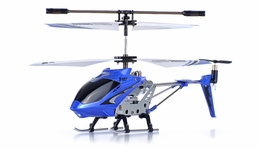 Syma 3 Channel S107 Mini Indoor Co-Axial Metal Body  Helicopter w/ Gyro (Blue) RC Remote Control Radio