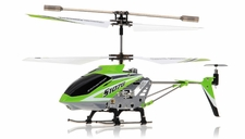 Syma 3 Channel S107G Mini Metal Indoor Co-Axial  RC Helicopter w/ Gyro (Green)