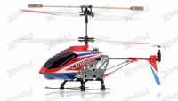 Syma 3 Channel S107G Mini Metal Indoor Co-Axial  RC Helicopter w/ Gyro (Red)