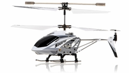 Syma 3 Channel S107G Mini Metal Indoor Co-Axial   Helicopter w/ Gyro (White) RC Remote Control Radio