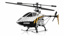 Syma F1 Metal Armor 3 Channel  Helicopter 2.4ghz w/ Gyro (Silver) RC Remote Control Radio