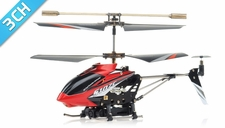 Syma S107C 3-channel Coaxial Mini Metal Spy Cam Helicopter w/ Gyro (Red)