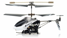 Syma S107C 3-channel Coaxial Mini Metal Spy Cam Helicopter w/ Gyro (White)