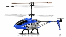 Syma S107N 3 Channel Mini Indoor Co-Axial Metal RC Helicopter w/ Built in Gyroscope (Blue)