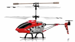 Syma S107N 3 Channel Mini Indoor Co-Axial Metal  Helicopter w/ Built in Gyroscope (Red) RC Remote Control Radio