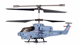 Syma S108G 3 Channel  Indoor Mini Co-Axial Infared Marines  Helicopter w/ Built in Gyro (Gray) RC Remote Control Radio
