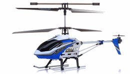 "Syma S301G Metal  helicopter 18"" 3 Channel RTF + 27 mhz Transmitter with GYRO (Blue) RC Remote Control Radio"