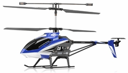 "Syma S33 3 Channel Metal  Helicopter 2.4ghz 30"" Long (Blue) RC Remote Control Radio"