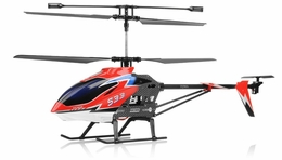 "Syma S33 3 Channel Metal Gyro  Helicopter 2.4ghz 30"" Long w/ Gyro (Red) RC Remote Control Radio"