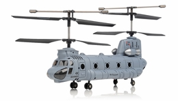 Syma S34 3 Channel Chinook  Helicopter 2.4ghz (Blue) RC Remote Control Radio
