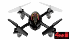 SYMA X11C 2.4G 4CH 6 Axis RC Quadcopter with 2.0MP Camera 360 Degree Flip Function w/ 4GB Memory Card (Black)