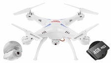 Syma X5SC Explorers 4 Channel 6-Axis RC Quadcopter Drone Ready to Fly 2.4Ghz w/ HD Camera & 4GB Memory Card (White)