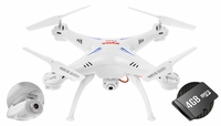 Syma X5SC Explorers 4 Channel 6-Axis  Quadcopter Drone Ready to Fly 2.4Ghz w/ HD Camera & 4GB Memory Card (White) RC Remote Control Radio