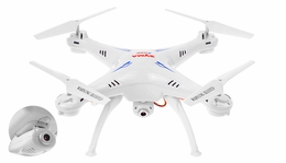 Syma X5SC Explorers 4 Channel 6-Axis  Quadcopter Drone Ready to Fly 2.4Ghz w/ HD Camera + Headless Mode Function(White) RC Remote Control Radio INCLUDE 4GB SD Card