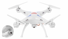 Syma X5SC Explorers 4 Channel 6-Axis  Quadcopter Drone Ready to Fly 2.4Ghz w/ HD Camera + Headless Mode Function(White) RC Remote Control Radio