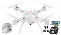 Syma X5SW Explorers 2 2.4GHz 4 Channel WiFi FPV  Quadcopter with 3MP 720P HD Camera 6 Axis 3D Flip Flight UFO RTF IOS and Android Compatible (White) RC Remote Control Radio