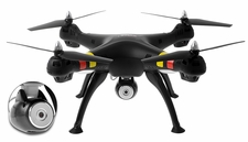 Syma X8C Venture 4 CH 2.4 Ghz RC Quadcopter with HD Camera 6 Axis 3D Flip w/ 4GB Memory Card (Black)