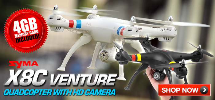 Syma X8C Venture | FREE 4GB Memory Card Included!