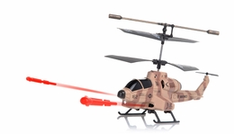 UDI U809 Cobra Missile Launching 3.5 Channel Micro RC Helicopter w/ Gyro RTF (Camouflage Desert)