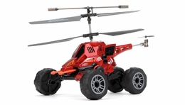 UDI U821 3.5ch Missile Launching Air and Ground Assault Vehicle (Red) RC Remote Control Radio
