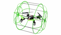 UDI U828 4 Channel Caged QuadCopter Drone 2.4ghz Ready to Fly (Green) RC Remote Control Radio