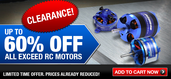 Up to 60% Off Exceed RC Motors - Limited Time Offer - Order Now.