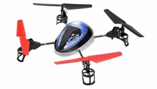 WL Toys Mini Drones UFO Force V949 Quadcopter 4Ch 2.4ghz (Blue)
