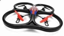 WL Toys V262 Cyclone UFO Drones 4 Channel 6 Axis Gyro Quadcopter 2.4Ghz Ready to Fly (Red)