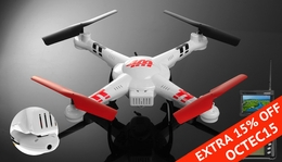 WL Toys V686G 5.8 FPV Headless Mode 4ch  Quadcopter Drone with 2MP Camera w/Real-time Transmission/4GB Memory Card RC Remote Control Radio