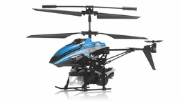 WL Toys V757 Shooting Bubble Master Co-Axial Metal 3.5 Channel  Helicopter w/ Gyro (Blue) RC Remote Control Radio