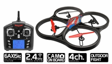 WLtoys V333 2.4G 6 Axis RC Quadcopter Drone RTF w/ Build in Camera (Red)