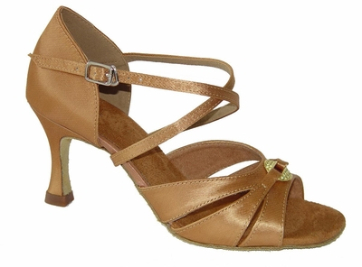 Light flesh satin sandals  175603