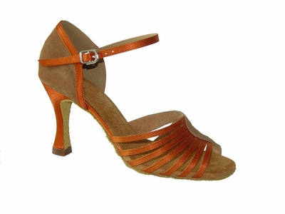 ladies dance shoes nubuck & satin 175703