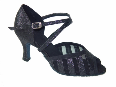 Black Sparkle and Mesh Sandal 271501