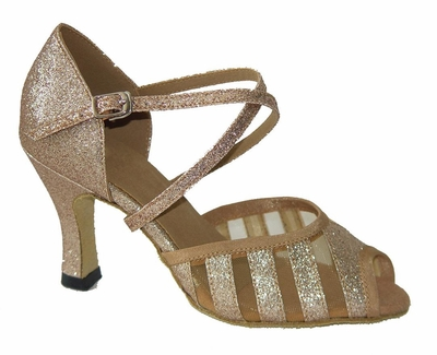 Gold Sparkle and Mesh Sandal 271502