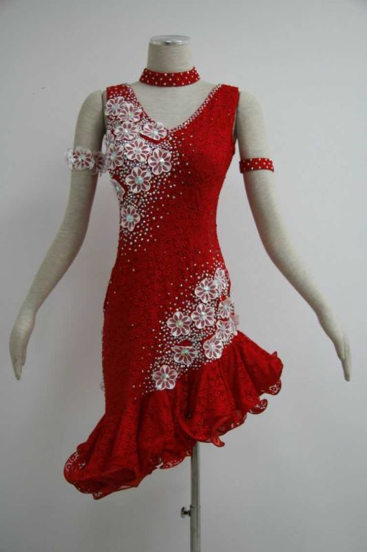 Red latin dress L936