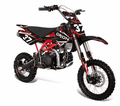 "Apollo/Orion Ultra-Elite 125cc Pit / Dirt Motorcycle. -Twin-Spar Tubular Frame (Compare to Honda) -Upgraded Rear Swing-Arm - Larger 17"" Front Wheel - Rugged Inverted Forks -"