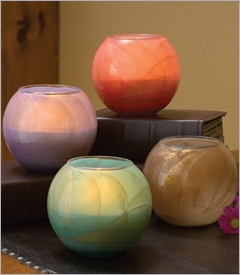 "4"" Esque Polished Globe Candles"