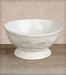 9.75in Heirloom Serving Bowl, White - GG Collection*