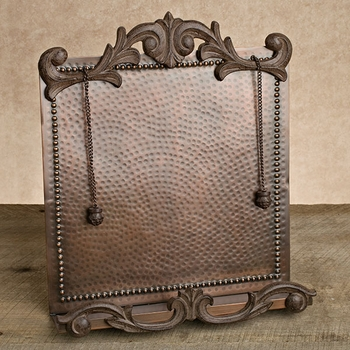 Antique Copper Cookbook Holder GG Collection