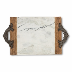 Antiquity Marble & Wood Large Cutting/Serving Board - GG Collection