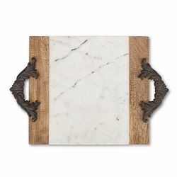 Antiquity Marble & Wood Medium Cutting/Serving Board - GG Collec