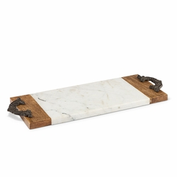 Antiquity Marble & Wood Small Cutting/Serving Board - GG Collection