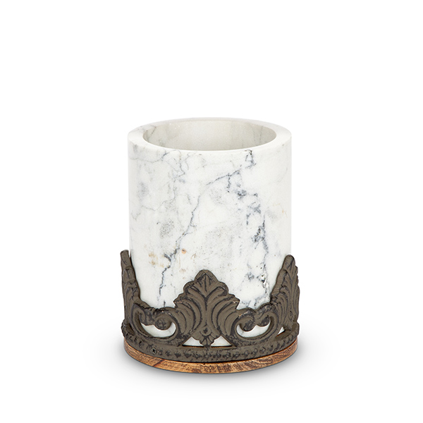 Antiquity Marble Amp Wood Utensil Holder Gg Collection