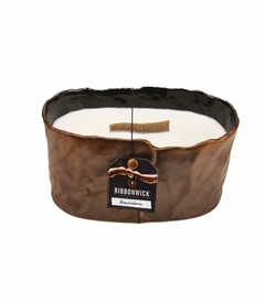 Brownstone Medium Oval RibbonWick Candle