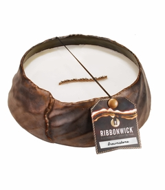 Brownstone Round RibbonWick Candle