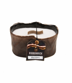 Brownstone Small Oval RibbonWick Candle