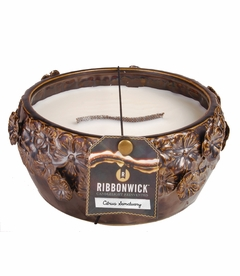 Citrus Sanctuary - Large Round RibbonWick Candle