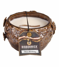 Citrus Sanctuary - Medium Round RibbonWick Candle